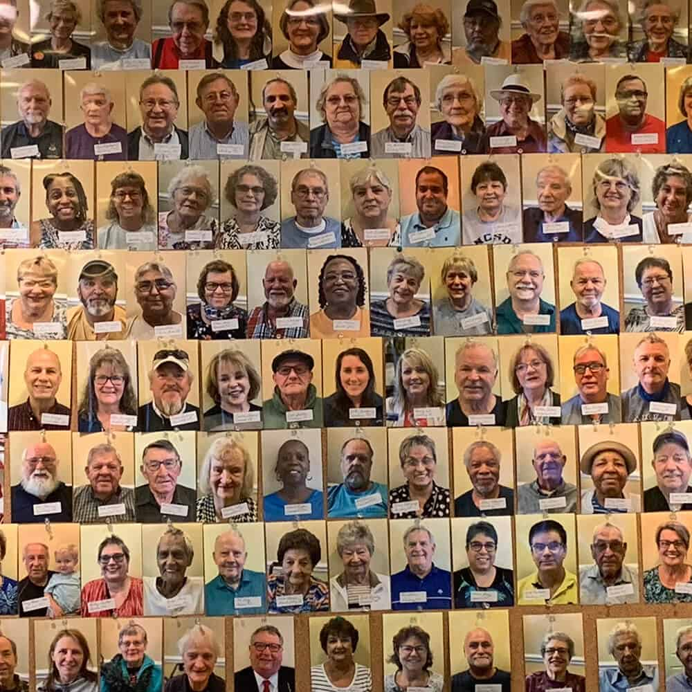 Wall of Faces - Patients Served